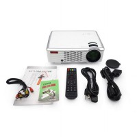 Led Mini Proyektor 33(02) 2000 Lummens with dual HDMI & USB support TV Tunner