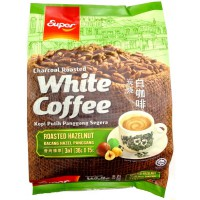 Super 3-in-1 Charcoal Roasted White Coffee Roasted Hazelnut Kopi Putih Panggang segera 15sachet