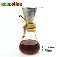 [globalbuy] New Arrival FREE SHIPPING CHEMEX Style Coffee Brewer 1-3 Cups Counted Espresso/2898811