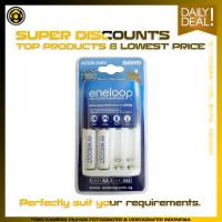 Promo Murah - Sanyo Eneloop Charger + 2 Pcs AA Rechargeable Batteries