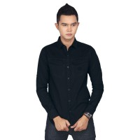 Raindoz Kemeja Kasual RKOx013 Black Nero