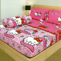 Bedcover Lady Rose ukuran 120 x 200 / Extra Single / No.3 - Hello Kitty