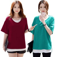 KOREAN STYLE ★ GISELLE DOUBLE LAYERED TEE/ baju atasan wanita / long dress / blouse / celana / atasan kerja