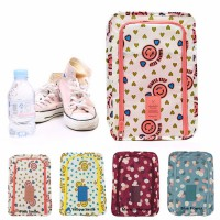 Korea Flower shoes pouch travel ver 3 / tas sendal sepatu / bag organizer