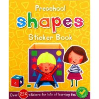 [HelloPandaBooks] Preschool Shapes Sticker Book with over 250 stickers for lots of learning fun