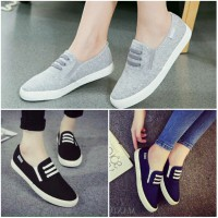 Flat Shoes Denim KM04