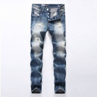 [globalbuy] Mens jeans Fashion Logo Brand Dsel Jeans Large sales Denim Button Jeans Pants /4200940