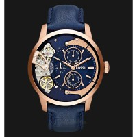 Fossil ME1138 Townsman Navy Blue Dial Navy Blue Leather Strap Watch