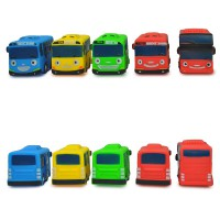 Toys Tayo The Little Bus Isi 5 Pcs - Mainan Bus Karakter Tayo Ages 3+