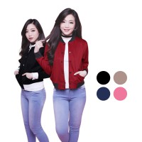 [High Quality Scuba] Bomberman Jacket | Jaket Wanita available in 5 colors