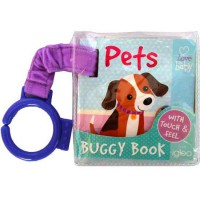 [HelloPandaBooks] PETS I Love My Baby Buggy/Stroller Board Book (with touch & feel on front cover)