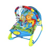 Sugar Baby Rainbow Forest 10 in 1 Premium Rocker 3001 - Baby Bouncer / Ayunan Bayi - Biru