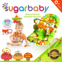 Sugar Baby Sugar Fox Deluxe Musical Vibration Bouncer - Green