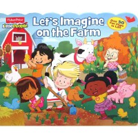 [HelloPandaBooks] Fisher Price Little People Let's Imagine on the Farm with over 50 Fun Flaps to Lift!