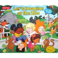 [HelloPandaBooks] Fisher Price Little People Let's Imagine at the Zoo with over 50 Fun Flaps to Lift