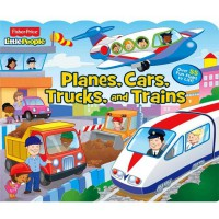 [HelloPandaBooks] Fisher Price Little People Planes, Cars, Trucks, and Trains with over 55 Fun Flaps