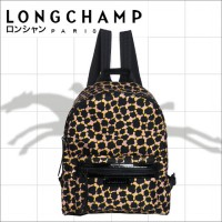 Tas Ransel Authentic Longchamp Neo Backpack Leopard