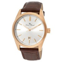 [macyskorea] Lucien Piccard Mens LP-11568-RG-02S Eiger Brown and Rose Leather Watch/1742348