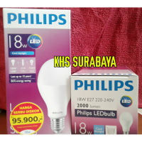 Lampu LED PHILIPS 18 watt Bohlam 18w / Philip Putih 18 w Bulb LED 18watt Cool day Light Putih PROMO