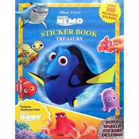 [HelloPandaBooks] Sticker Book Treasury Finding Nemo & Finding Dory with Over 350 Reusable Sticker