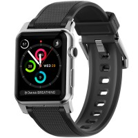Nomad Silicone Strap for Apple Watch 42 mm - Silver Hardware