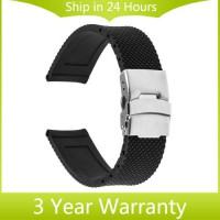 [globalbuy] 20mm Silicone Rubber Watch Band for Moto 360 2 42mm 2015 Samsung Gear S2 Class/3202761