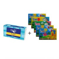 [ 1 + 5 ] 1 Pack Multi Softpack 250's + 5 Pack Tessa Travel 50's