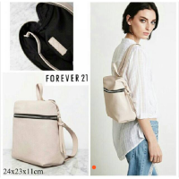Forever 21 Backpack Leather Zipper Original