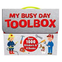 [Hellopandabooks] My Busy Day Toolbox Sticker Book Pack with Over 1000 Stickers & 4 Books (SILVER)