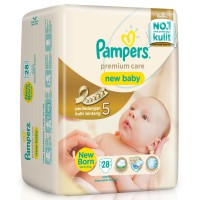 PAMPERS Premium Care New Born Taped - NB 28 ( PROMO ...Stok terbatas )