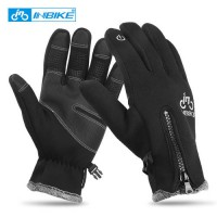 [globalbuy] INBIKE Winter Mens Cycling Gloves Full Finger Warm Windproof Bike Gloves Touch/4323797