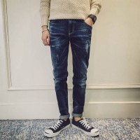 [globalbuy] New Arrival Mens jeans 501 Pants Ripped Washed Jean for Men Classical Skinny J/4196237