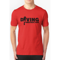 T-shirt Diving Instructor - red