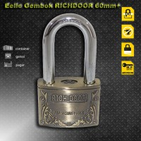 EELIC GEK-RD60MM Gembok 60 MM Gold Mewah Anti Air Kuat Aman Stainless Steel