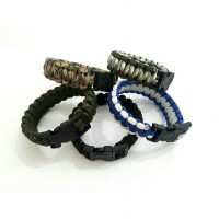 Gelang Survival Paracord Barcelet with Plastic Buckle