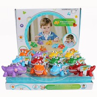 paket 2 pcs Crocodile plus Angel Fish - warna random