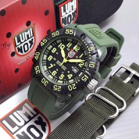 BEST SELLER!! Jam Tangan Luminox Hijau Army Dua Tali