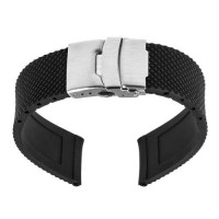 [globalbuy] 22mm Silicone Rubber Watch Band for Moto 360 2 Gen 46mm 2015 Samsung Gear 2 R3/3201810