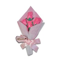 Coklat Bouquet Mawar 6 tangkai 250 gr plus box
