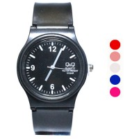 Jam Tangan QQ Casual Unisex Watches Type Casual Fashion Rubber Type 5 Pilihan Warna (FIN-29)