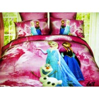 Jaxine Sprei Katun Frozen Pink Ukuran Small Single (100 x 200 x 20 cm)