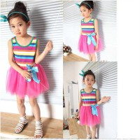 Dress Anak Korean - Rainbow