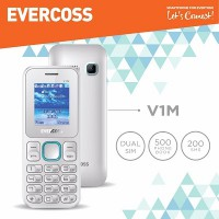 Handphone Evercoss V1M CandyBar LCD 1.8 inch Dual GSM Big Keypad Camera FM Radio Multimedia Torch