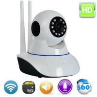 IP Camera CCTV Dual Antenna Wireless P2P Wifi Antena Night Vision HD 720p Kamera Pengintai
