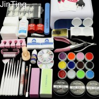 [globalbuy] Nail Gel Polish Tools Pro 36W UV GEL White Lamp with 12 Color Nail Art Kits ma/3203486