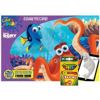 [macyskorea] Finding Dory Giant Come to Life Color and Play Book with 24 ct Crayola Crayon/16122894