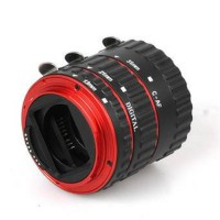 Third Party Macro Extention AF Tube DSLR Canon Ring Merah