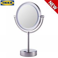 Ikea Cermin Kaitum Mirror with Integrated Lighting Battery Operated Led