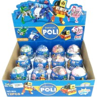 Robocar Poli 2 In 1 Building Blocks Egg Series 803