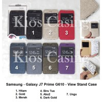 Samsung Galaxy J7 Prime G610 - Flip Cover View Stand (Case Casing Sarung)
